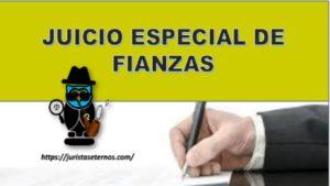 JUICIO ESPECIAL DE FIANZAS