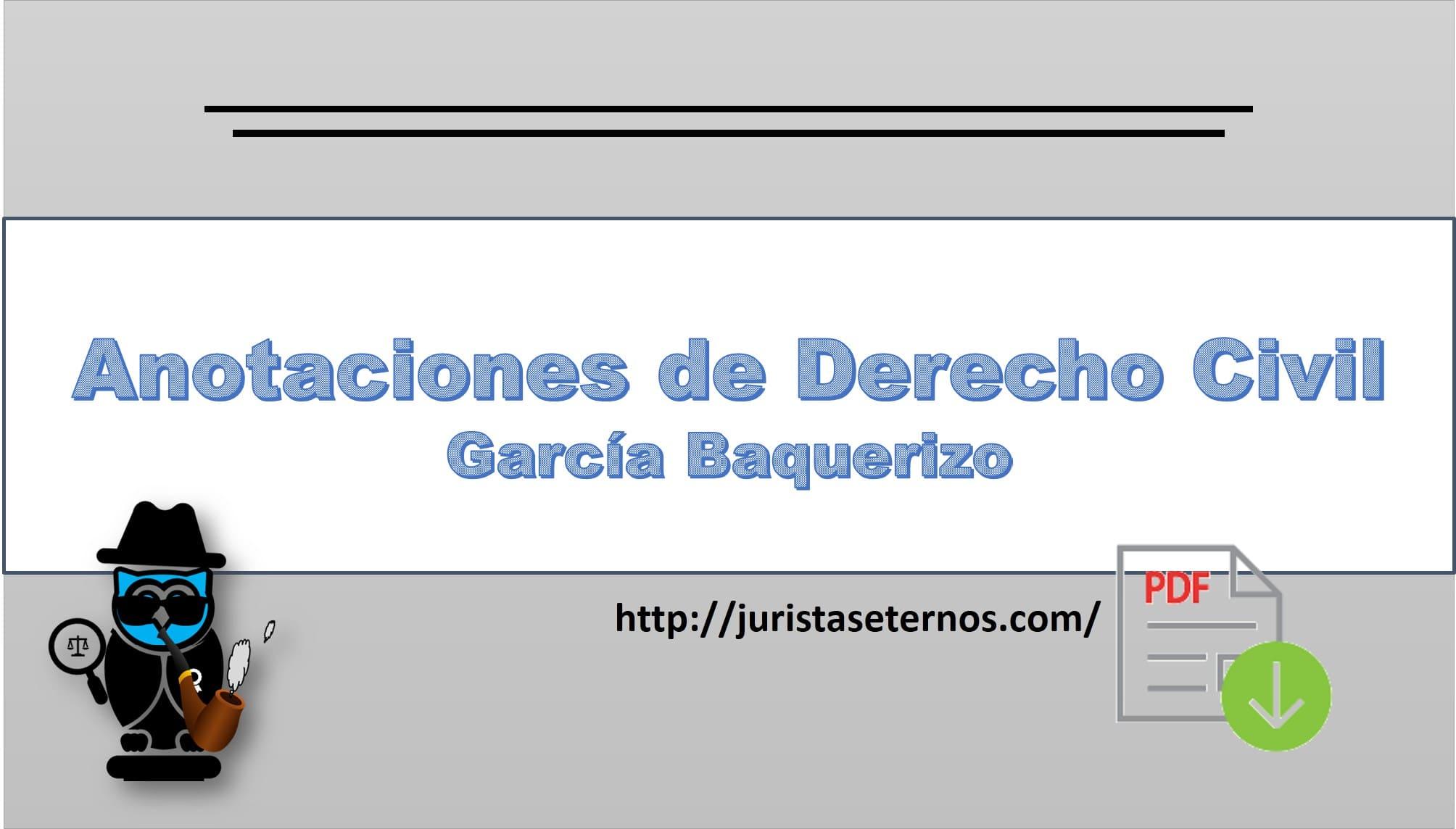 anotaciones de derecho civil garcia baquerizo pdf