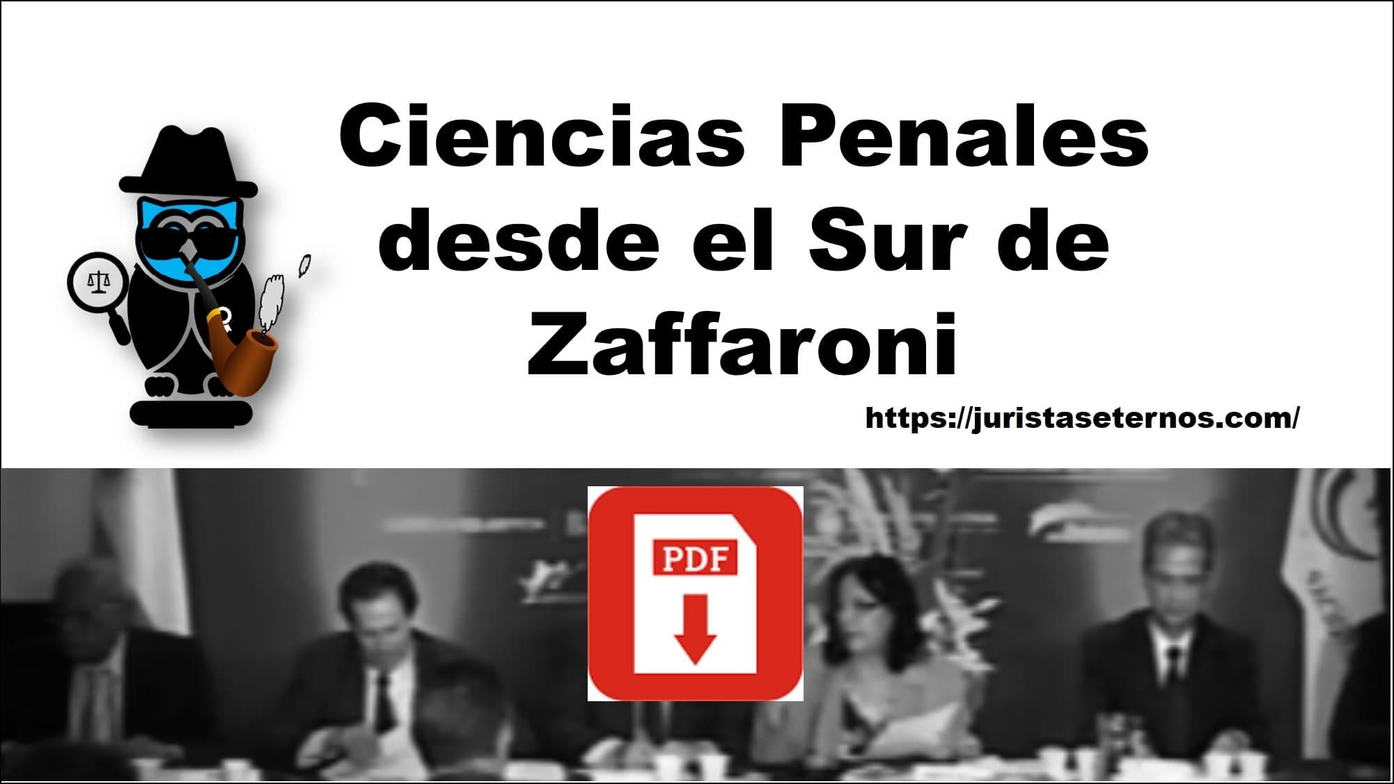 ciencias penales desde el sur zaffaroni pdf