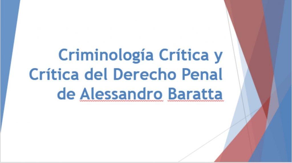 criminologia critica y critica del derecho penal alessandro baratta pdf