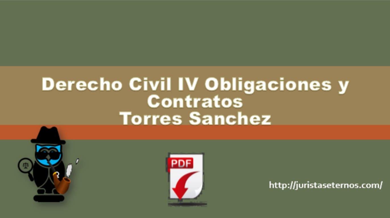 derecho civil iv obligaciones y contratos torres sanchez