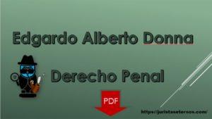 Derecho Penal de Edgardo Alberto Donna PDF