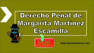 Derecho Penal de Margarita Martínez Escamilla PDF