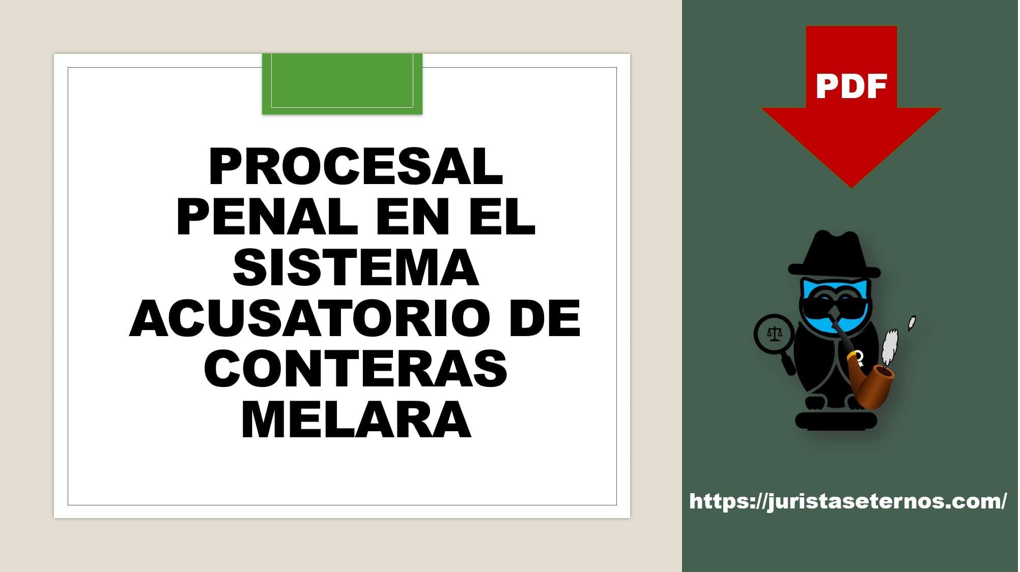 derecho procesal penal en el sistema acusatorio pdf