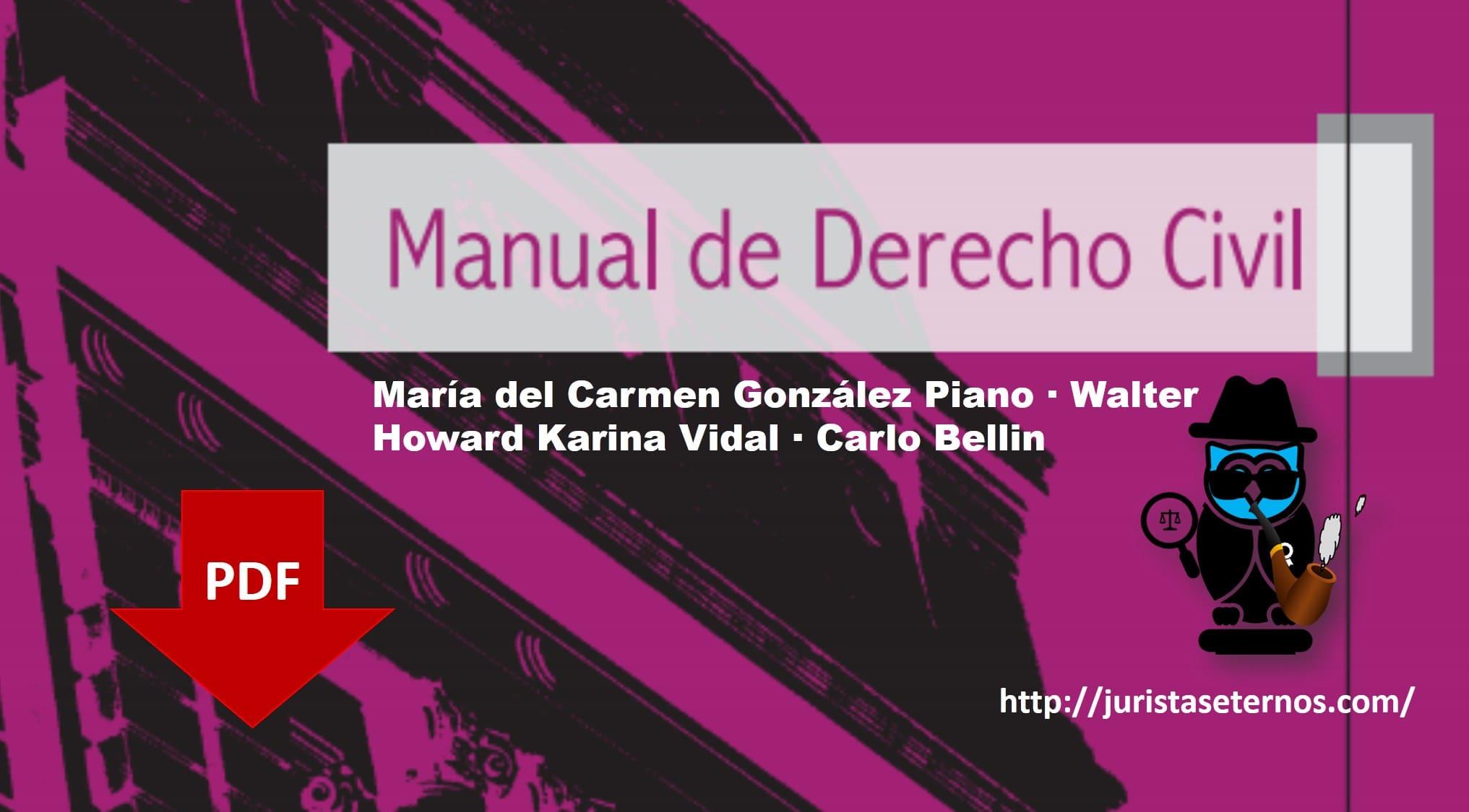 manual de derecho civil gonzalez piano