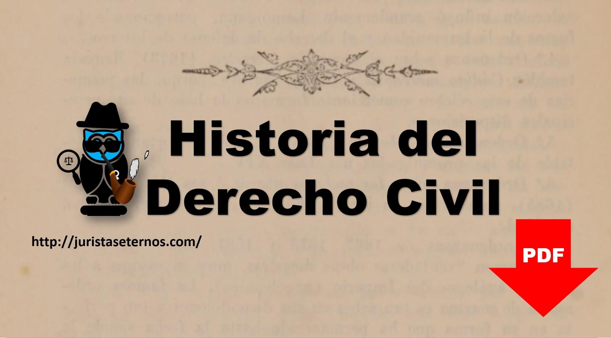 nociones de historia del derecho civil