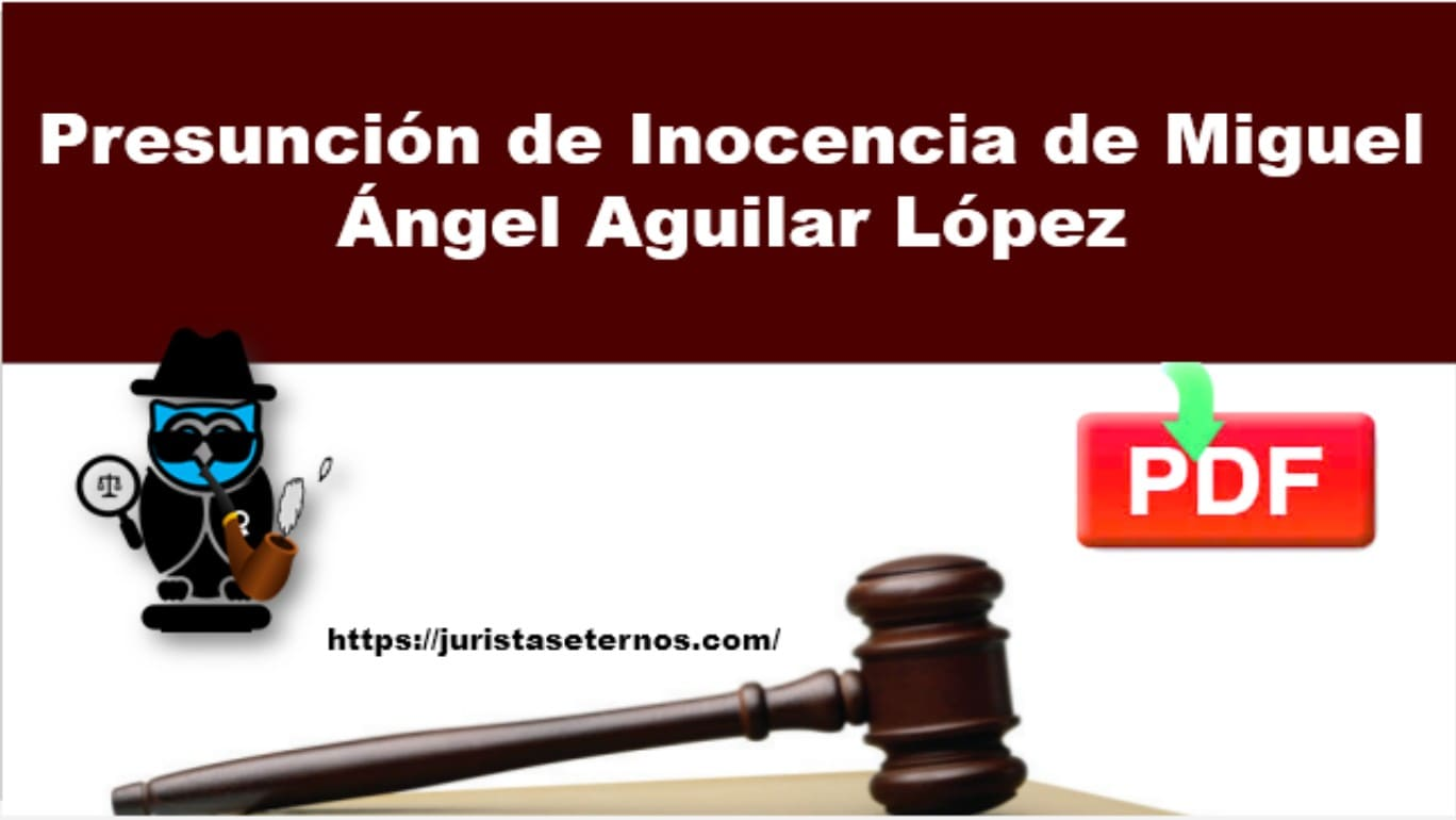 presuncion de inocencia miguel angel aguilar lopez pdf