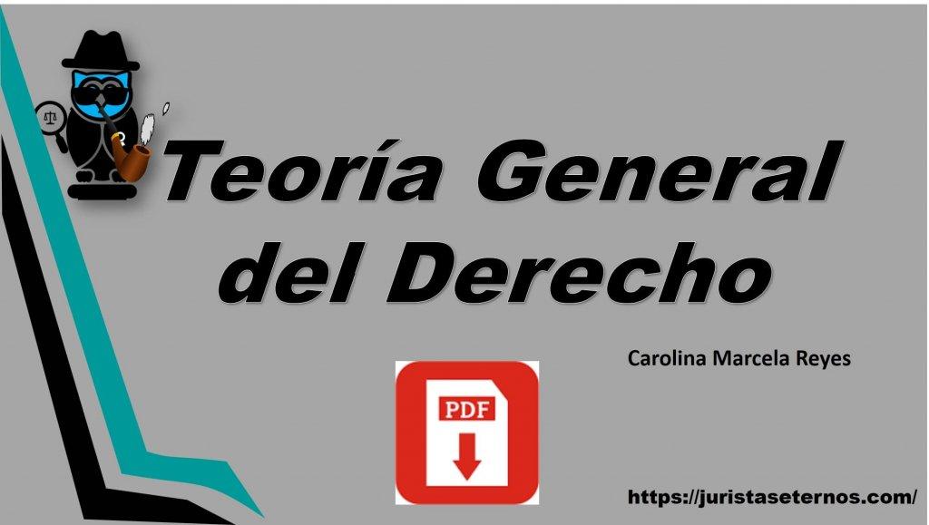 teoria general del derecho marcela reyes pdf