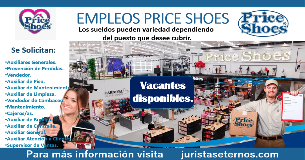 Empleos disponibles en price shoes