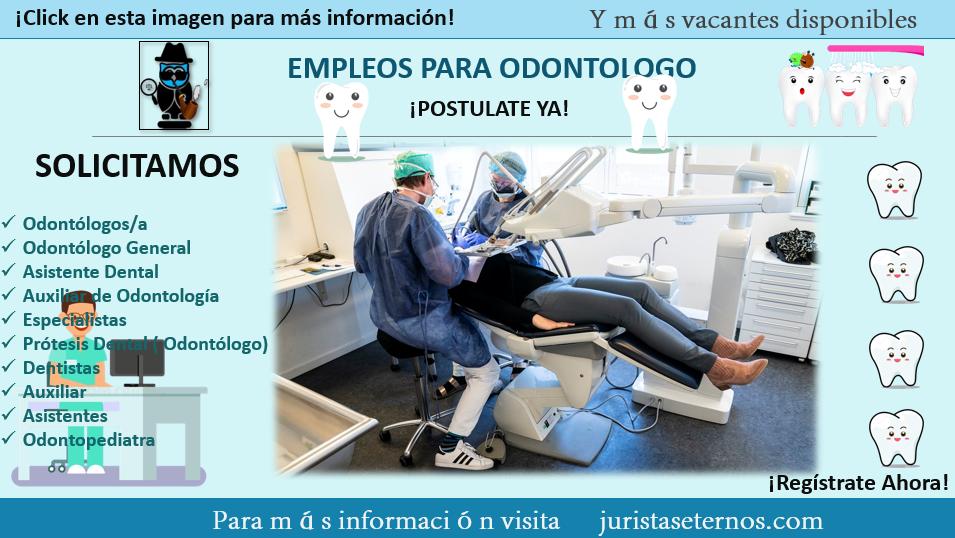 Empleos para dentistas