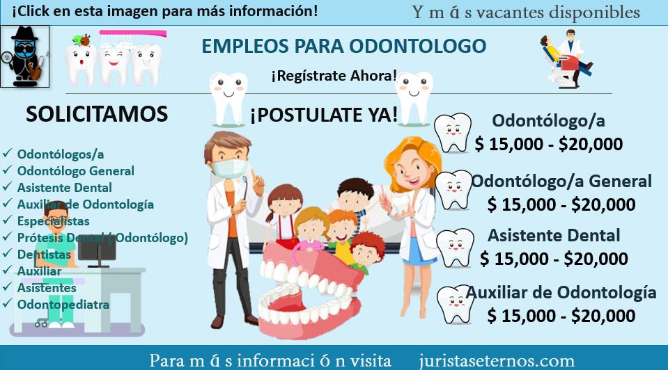 Vacantes para odontologos