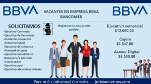 BBVA VACANTES DISPONIBLES