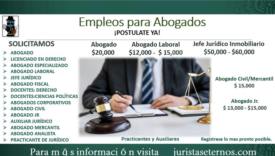 vacantes para abogados