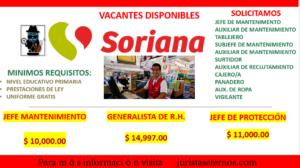Empresa SORIANA busca nuevos empleados